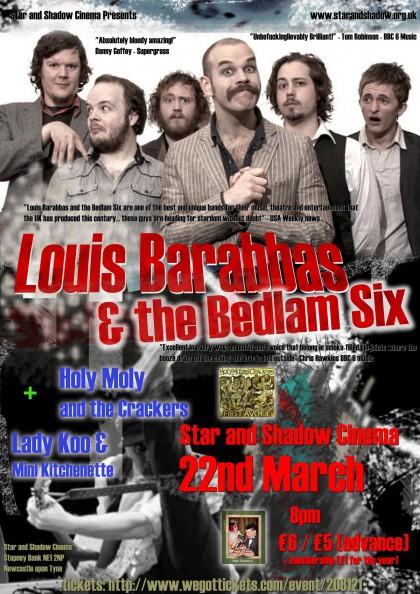Louis Barabbas & The Bedlam Six gig poster 3