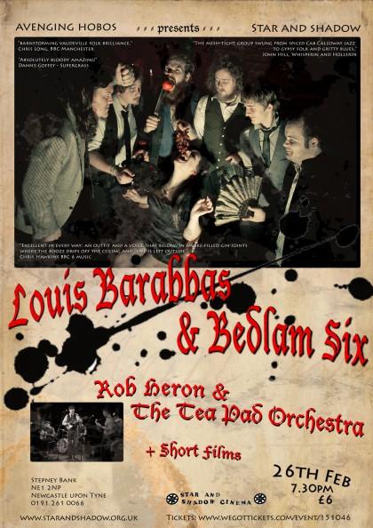 Louis Barabbas & The Bedlam Six gig poster 1